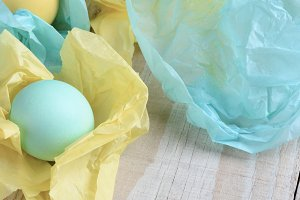 Easter Egg Banner Pastel Eggs and Ti