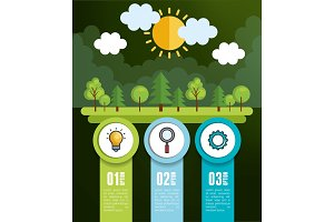 nature infographic template icons