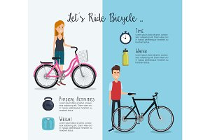 people in bicycle with healthy