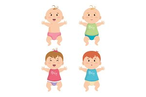 group of litttle babys