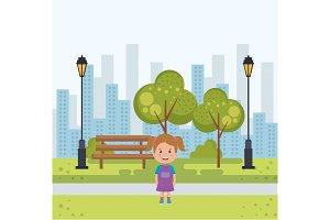 little girl in the park avatar