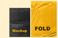 Fold - 6 Wrinkle Paper Mockup by  in Graphics