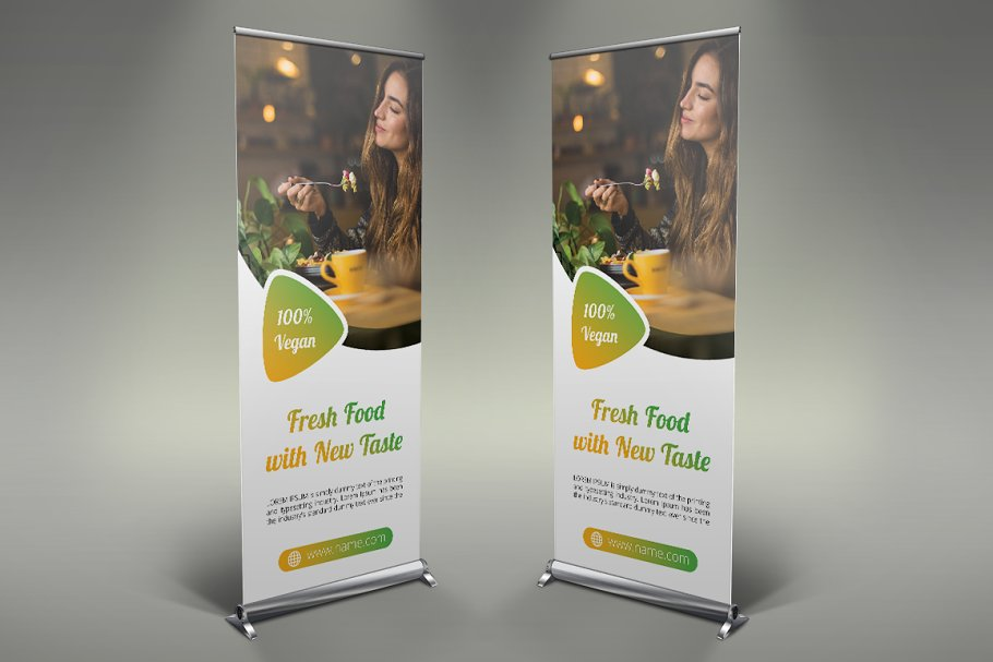 Restaurant Roll Up Banner
