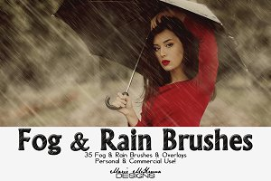 Fog & Rain Brushes & Overlays