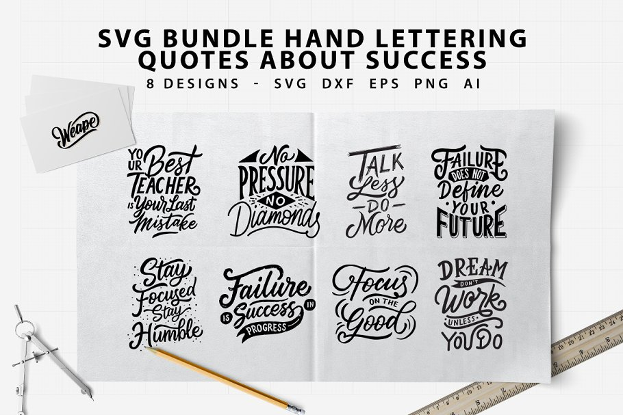 Lettering Quotes About Success Illustrations Creative Market