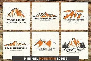 Minimal Mountain Logo Templates