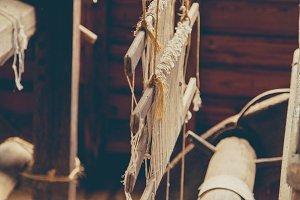Antique Weaving Loom