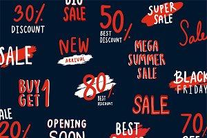 Set of sale and discount vectors