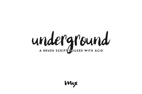Underground — An Acid-Doused Script