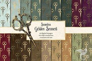 Golden Scissors Digital Paper