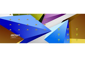 Triangles polygonal background