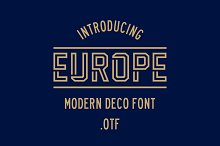 EUROPE DISPLAY by  in Fonts