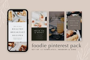 Food Bloggers Pinterest Template Set