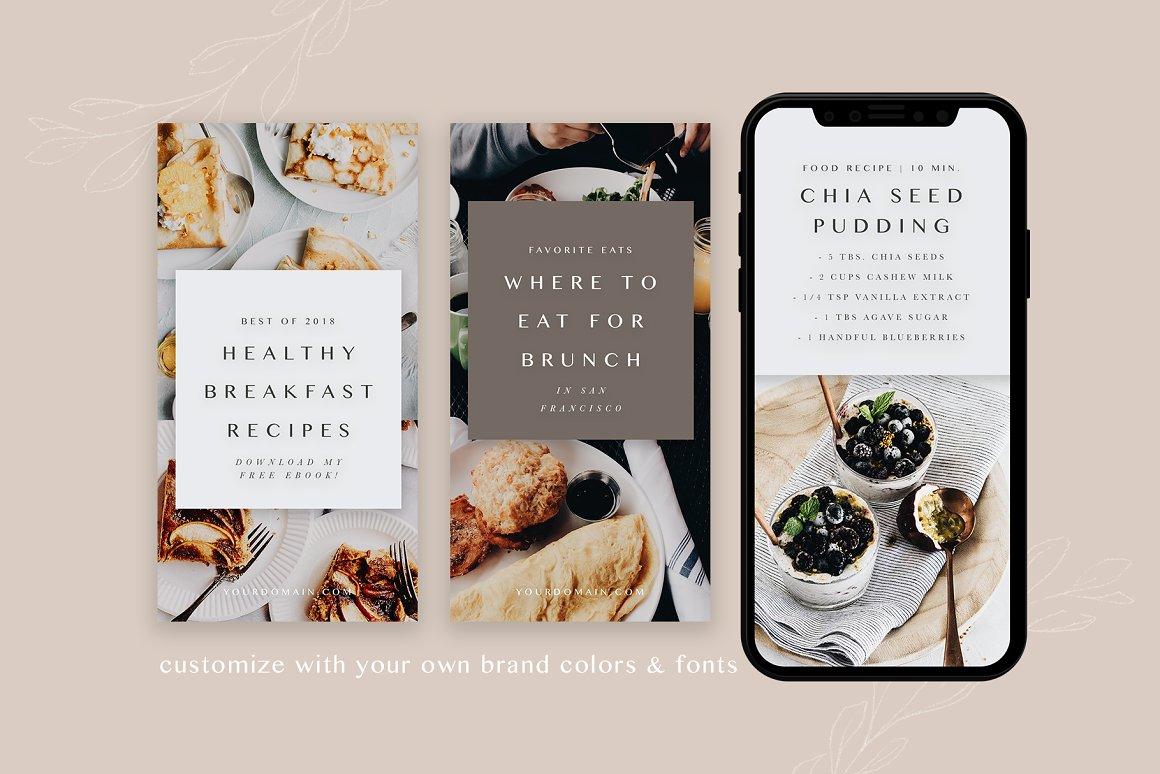Food Bloggers Pinterest Template Set