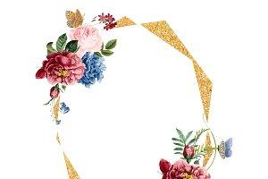 Floral frame card illustration