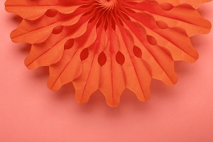 Living coral background and party ho