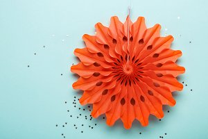 Living coral paper decoration on tur