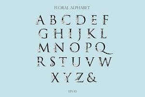 Floral Alphabet and Monogram