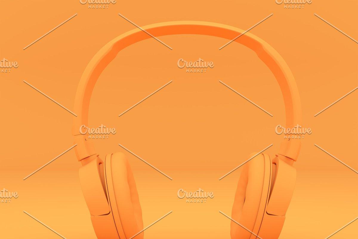 Modern Headphones one tone color.