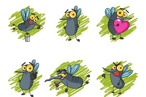 Cute Illustration Of  Mosquitoes