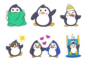 Cartoon Illustration Of Cute Penguin