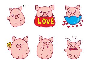Illustration Of Cute Pig