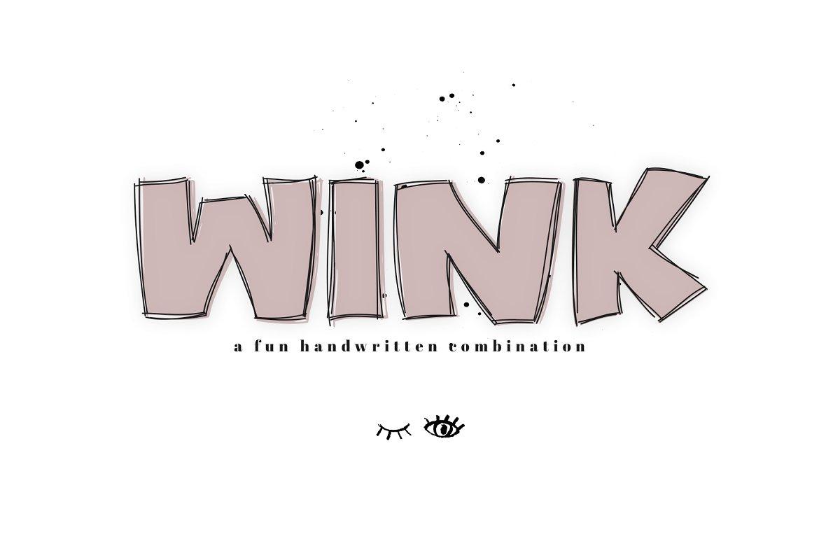 Wink - A Bold Handwritten Font