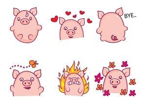 Cute Pig Illustration