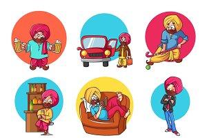 Illustration Of Punjabi Man