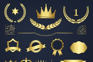 Premium badges and banners vector