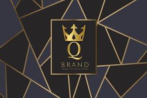 Premium Q brand design vector