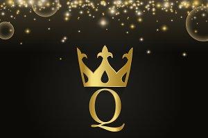 Premium q brand icon design vector