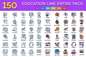 150 Education Line Entire Pack