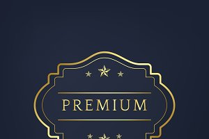 Premium badge design vector