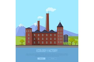 Ecology Factory Web Banner. Eco