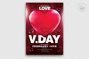 Valentines Day Flyer Template V21