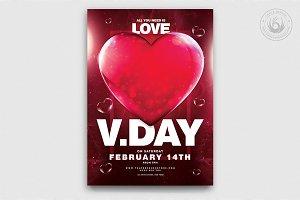 Valentines Day Flyer Template V21