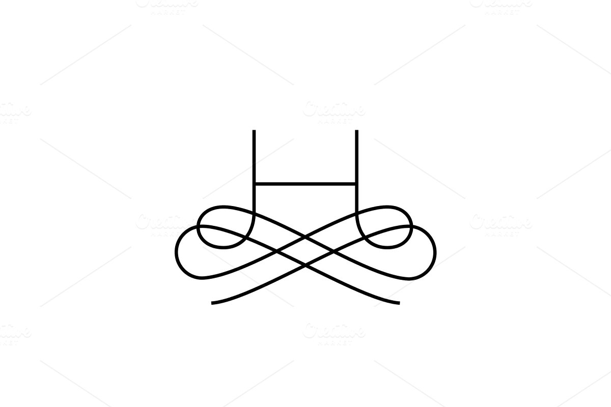 Linear monogram vector symbol logo