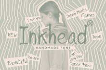 Inkhead Typeface by  in Display Fonts