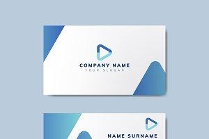 Modern geometric business card