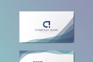 Modern geometric business card