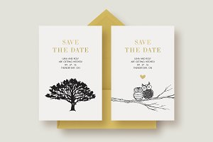 A Pair of Chic Save the Dates