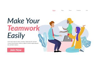 Teamwork Flat Illustration