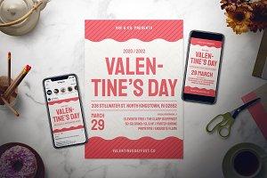 Valentine's Day Flyer Set