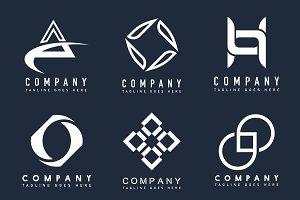 Corporate business logo set