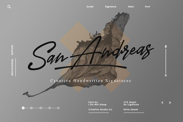 Script Fonts: I Do Not Sleep - San Andreas (Signature Font)