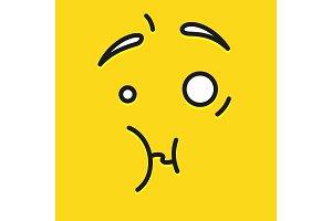 Smile icon template design