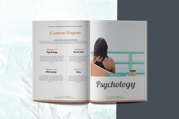 E-course Workbook / Opt-in Template in Magazine Templates - product preview 1