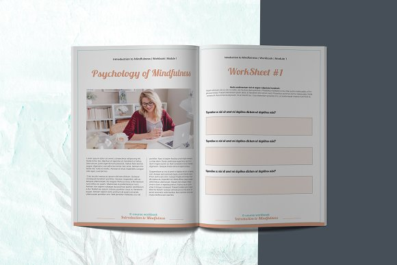 E-course Workbook / Opt-in Template in Magazine Templates - product preview 2