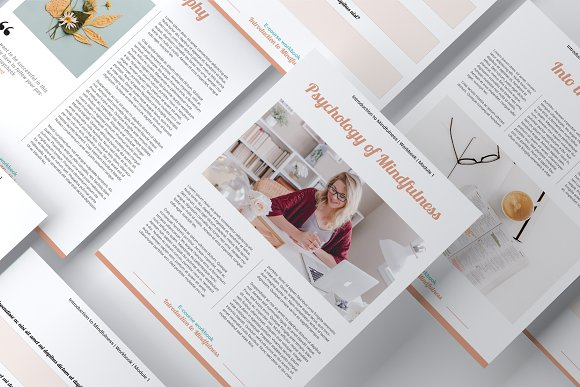 E-course Workbook / Opt-in Template in Magazine Templates - product preview 6